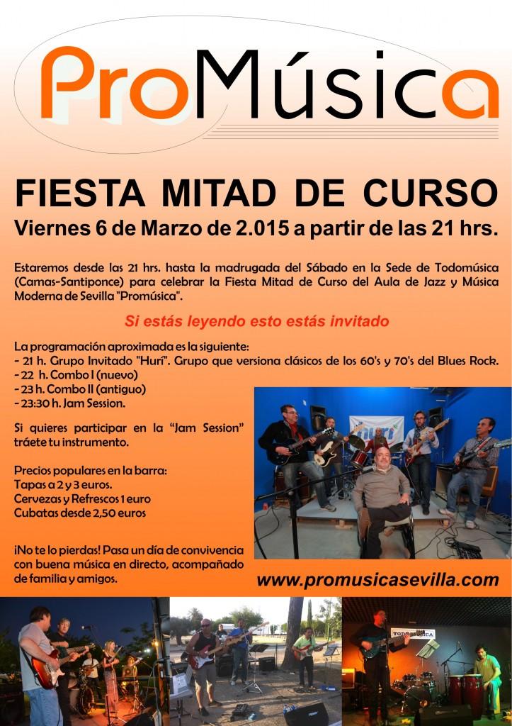 Cartel Fiesta Mitad de Curso 2014-15